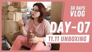 30 Days Vlog | Day 7 双11开箱 在家吃饭 | 李文鱼大哥哥