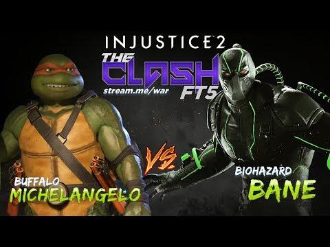 BUFFALO (Michelangelo) Vs  BIOHAZARD (Bane) - The Clash - Injutice 2