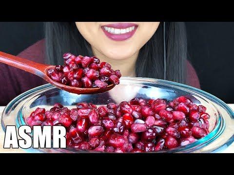 ASMR POMEGRANATE FRUIT (No Talking) | Crunchy Eating Sounds | ASMR Phan