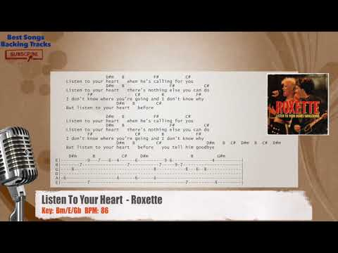 Listen To Your Heart- Roxette Vocal Backing Track with chords and lyrics
