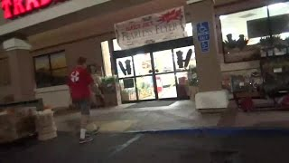 10. Gang Stalking Target Puts Basket Back - Person in RED Is There - 10/16/2015