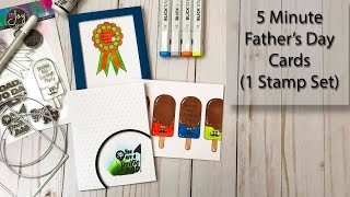5 Minute Father's Day Cards 1 Stamp Set