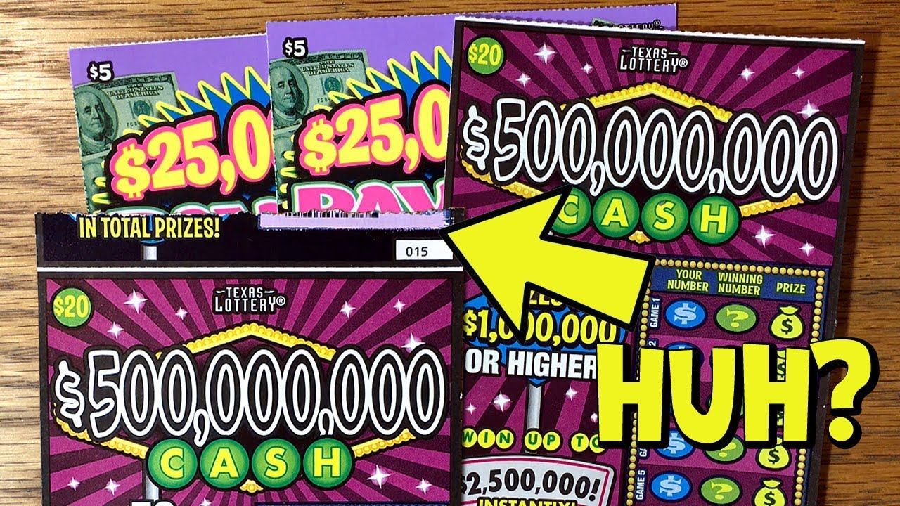 WINS! 2X $500,000,000 Cash + 2X $25,000,000 Payout! ✦ TEXAS LOTTERY Scratch  Off Tickets