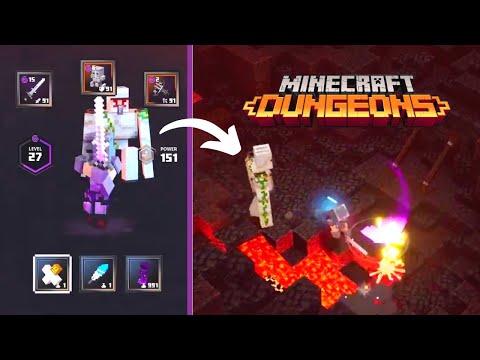 minecraft-dungeons:-invincible-*golem*-build-(gameplay)