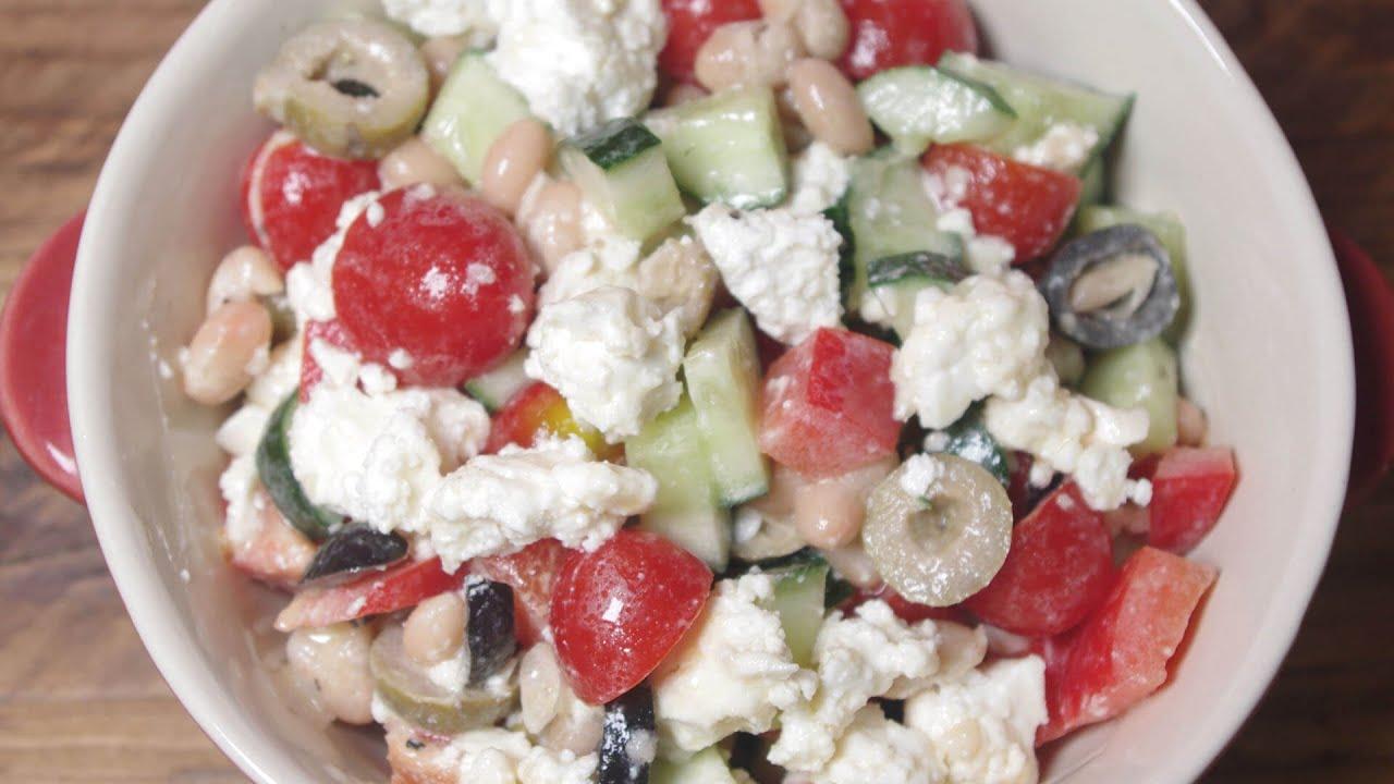 How To Make Mediterranean Bean & Feta Salad  - Recipe