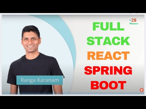 Full Stack Application With React And Spring Boot -  First 10 Steps thumbnail