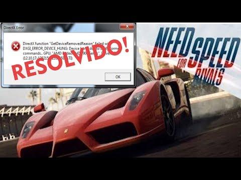 Need For Speed Rivals DirectX Error Fix [ RESOLVIDO! ]