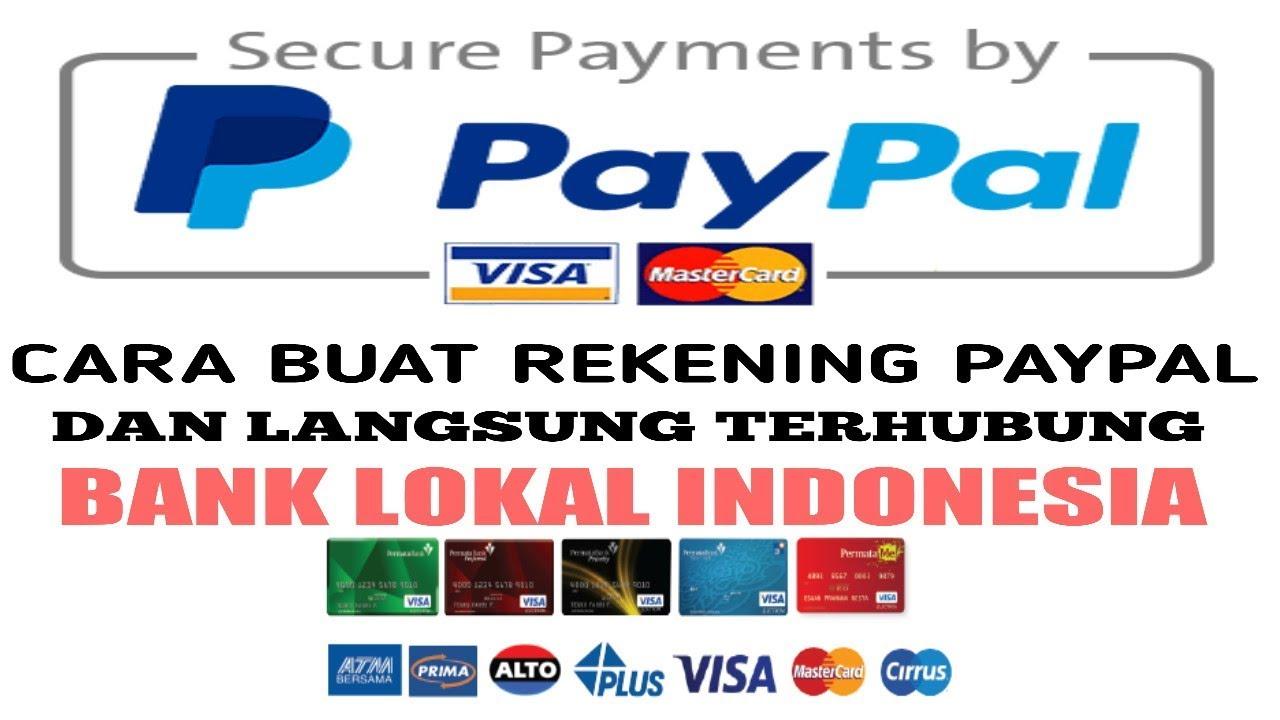 Cara Daftar Rekening Paypal Tanpa Kartu Kredit Youtube
