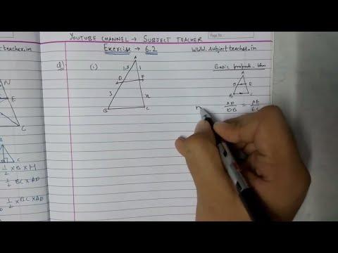 Triangles Chapter 6 Exercise 6.2 (part 1) class 10 maths NCERT || Math Tutor