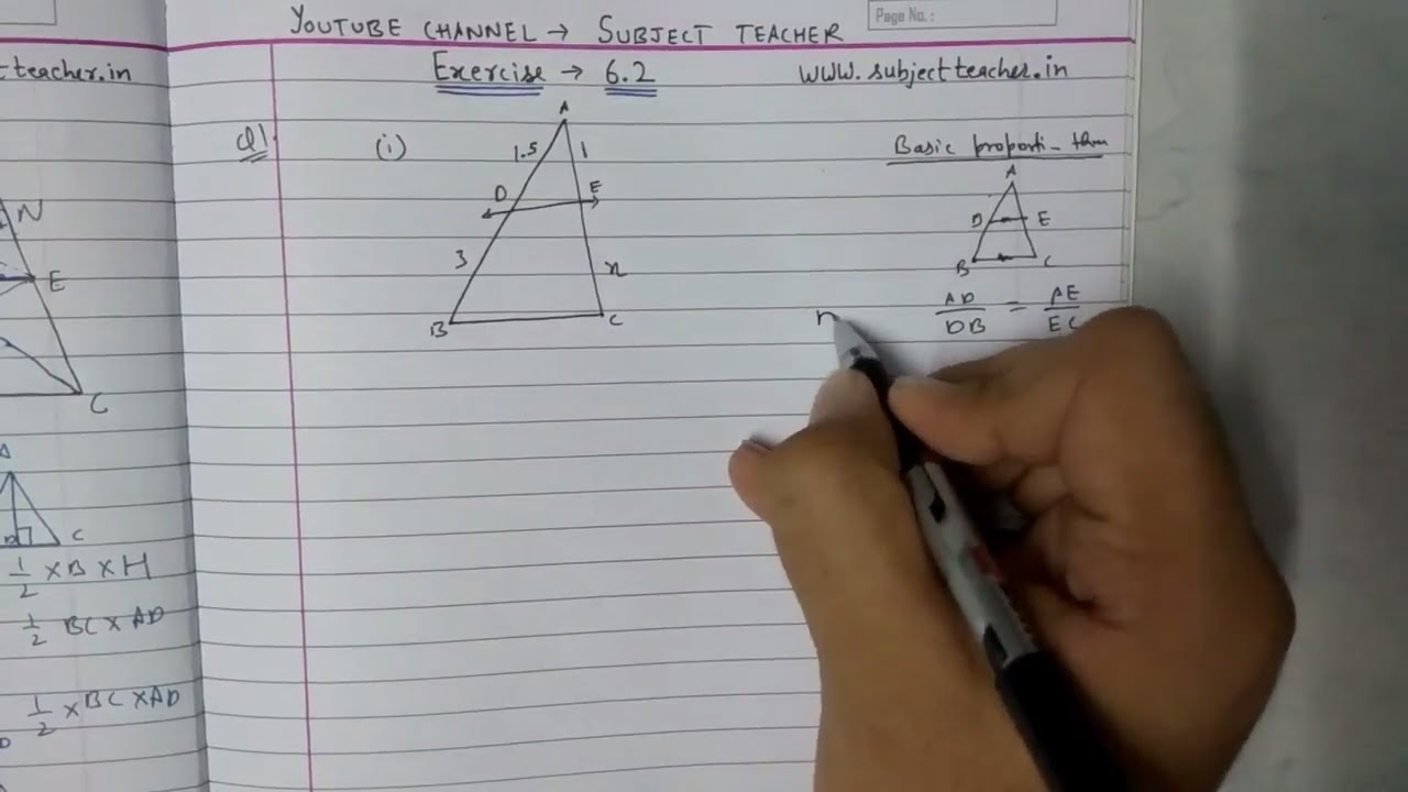 Triangles Chapter 6 Exercise 6.2 (part 1) class 10 maths NCERT ...