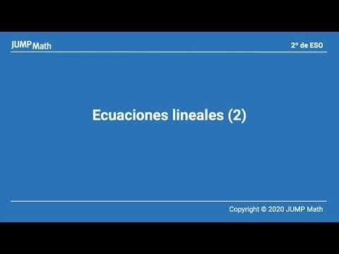 2. Unidad 4. Ecuaciones lineales II