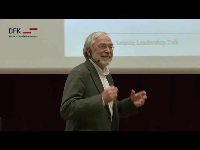 Leadership Talk mit Dr. Gerald Hüther an der HHL Leipzig zum 100 jährigen Jubiläum des DFK