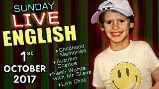 Video LIVE English Lesson - 1st OCT 2017 - Learning English  - grammar - childhood - abbreviations download MP3, 3GP, MP4, WEBM, AVI, FLV Desember 2017