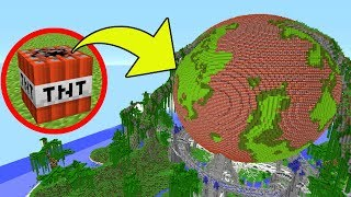Minecraft TNT VS PLANET EARTH - Mini-Game