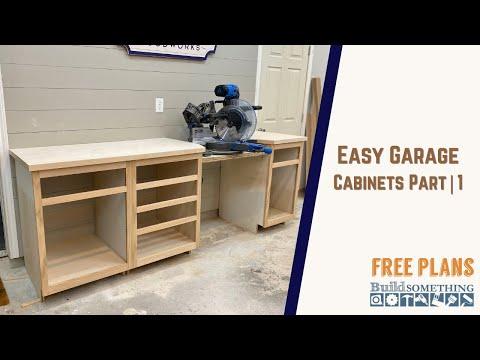 Easy Garage Shop Cabinets // Miter Saw Station Build Part   1