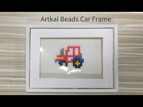 Artkal Perler Beads Teach You How to Make a Photo Frame - YouTube