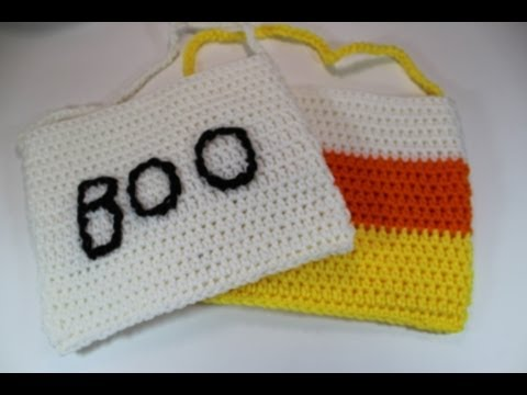 Easy to crochet Halloween Treat Bags