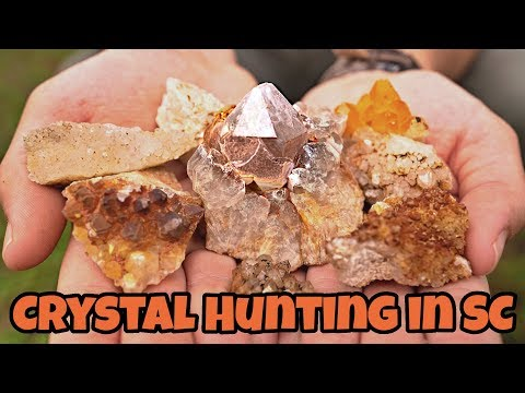 Crystal Hunting at Diamond Hill Mine in South Carolina -  Smoky and Skeletal Quartz Crystal Mining