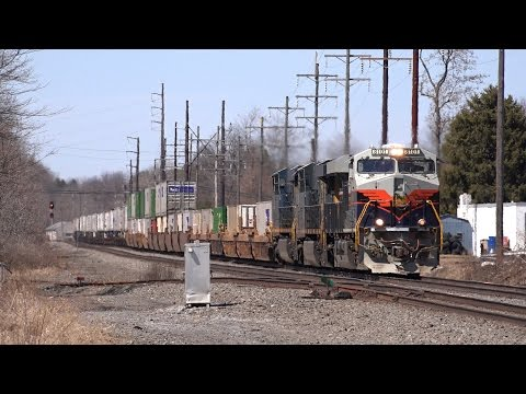 Trains on the Norfolk Southern Harrisburg Line Spring 2015