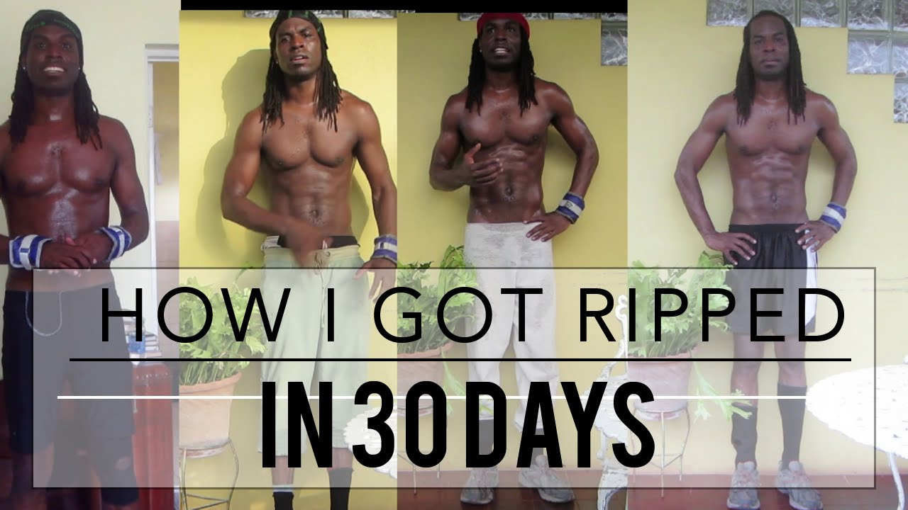 How to get ripped quick at home
