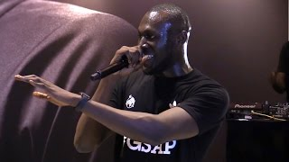Stormzy Performs At Manchester United's Megastore