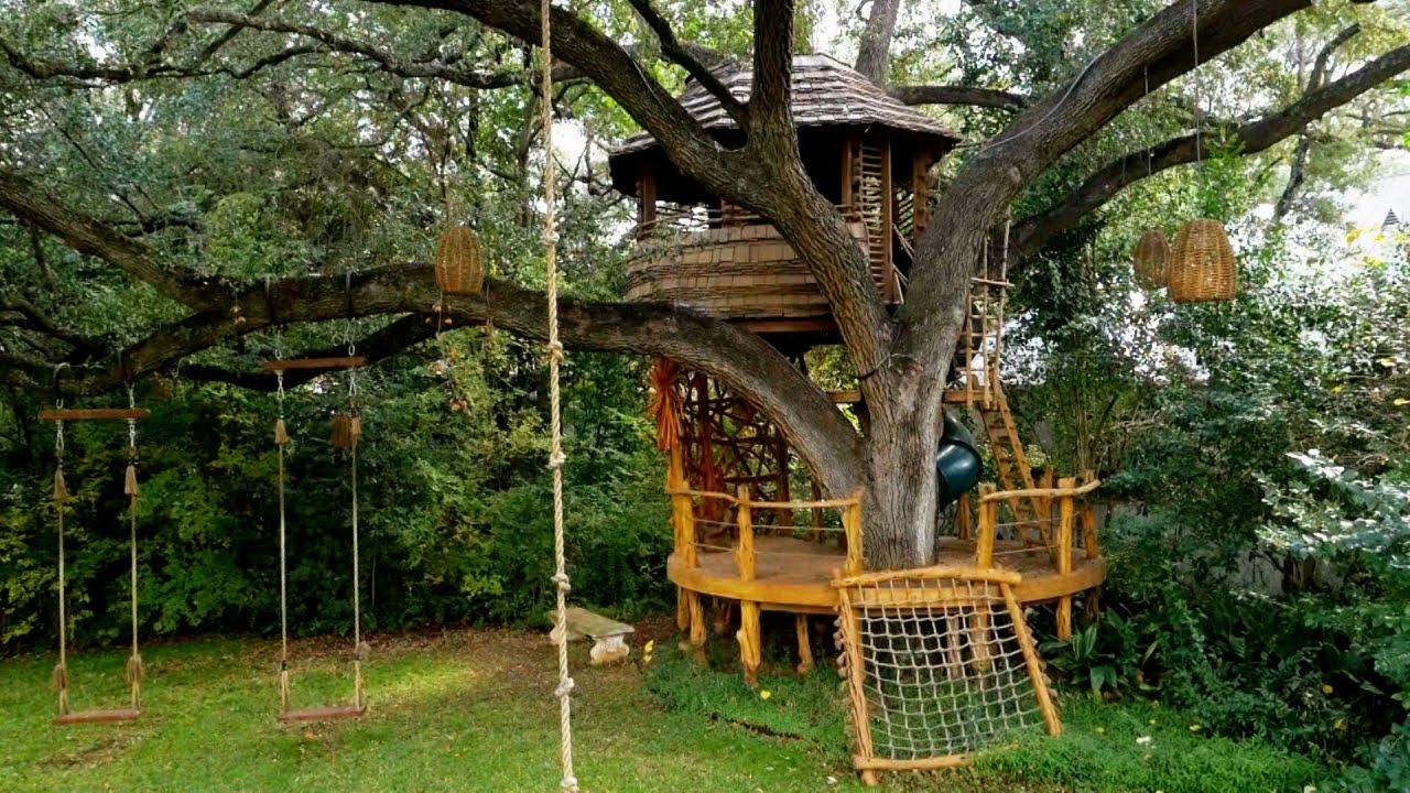 A Botswana Inspired Hideaway Treehouse Masters Youtube