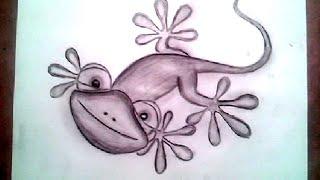 3D Lizard Drawing