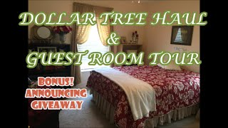 Dollar Tree Haul & Guest Room Tour (G. Closed)