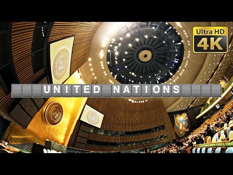 Inside United Nations UN Headquarter (4K) in New York
