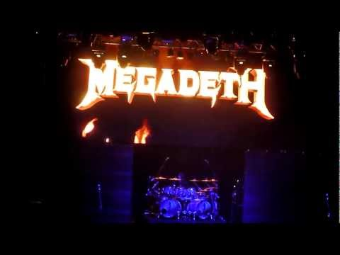 Megadeth-intro with Trust-live at saltair salt lake city Dec 1, 2012