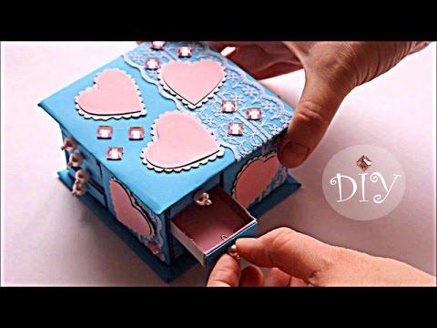 Как сделать ШКАТУЛКУ из спичечных коробков для кукол | How to make a box for dolls | Doll Crafts
