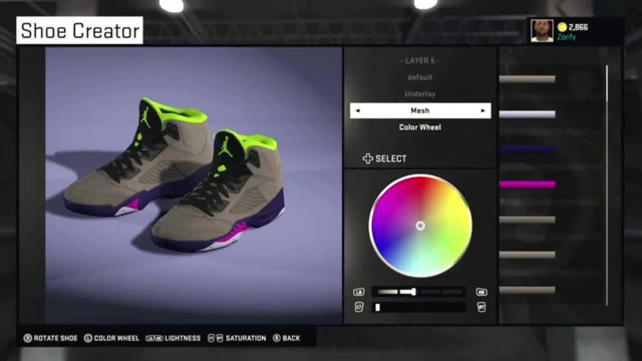 0a735bf4fcc NBA 2K15 Shoe Creator - Air Jordan 5