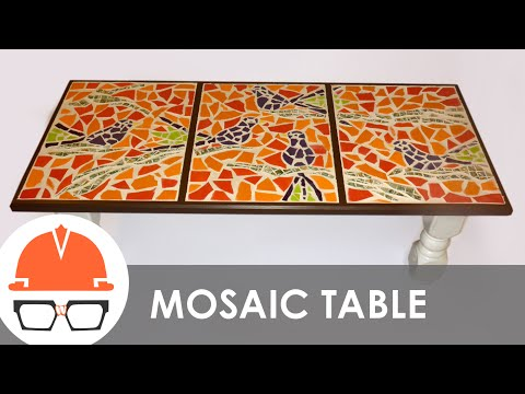 Building a tile mosaic coffee table