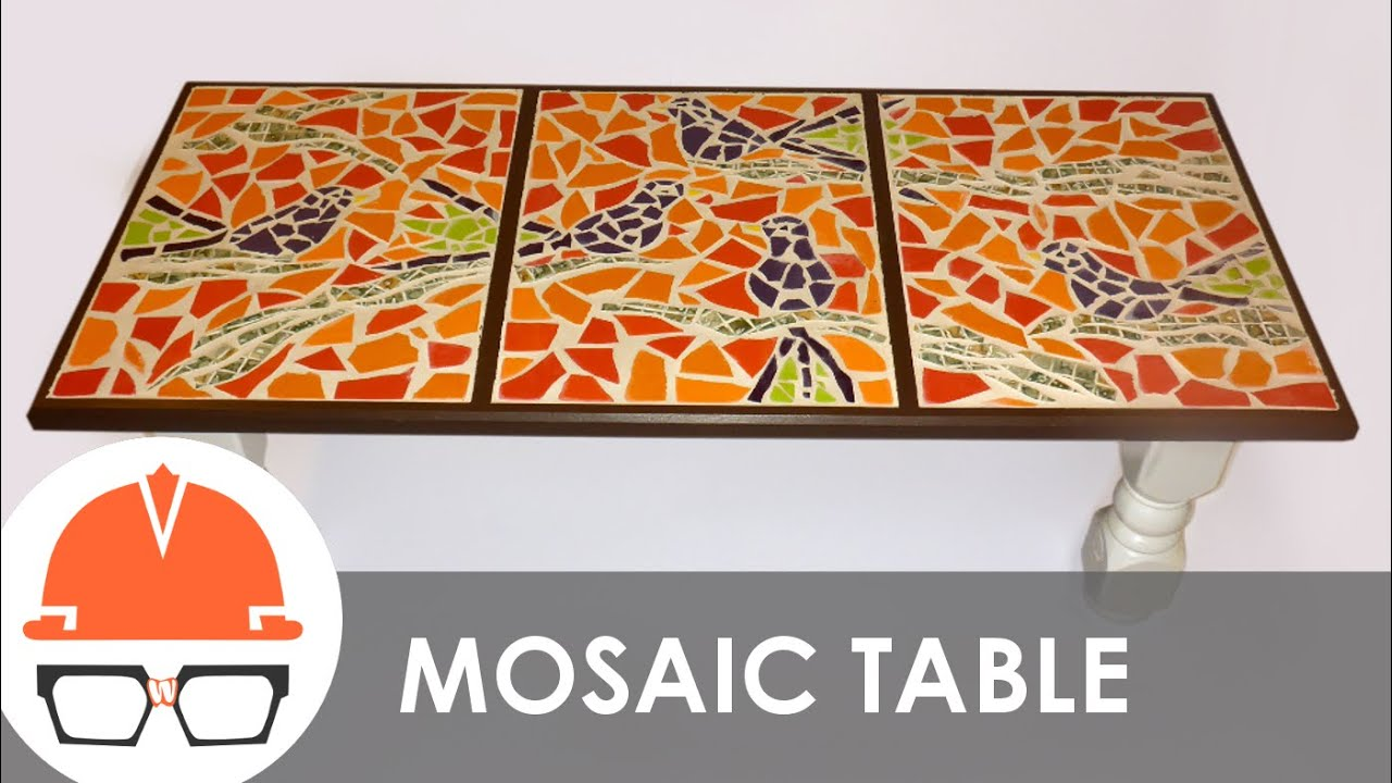 building a tile mosaic coffee table - youtube