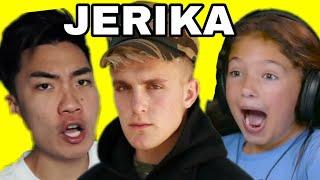 KIDS REACT TO RICEGUM REACTING TO JAKE PAUL (JERIKA (Song) feat. Erika Costell & Uncle Kade) FBE