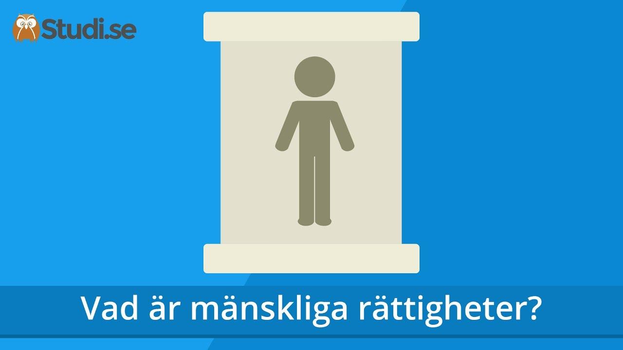 ff77342e9cd Vad är mänskliga rättigheter? (Samhällskunskap) - Studi.se - YouTube