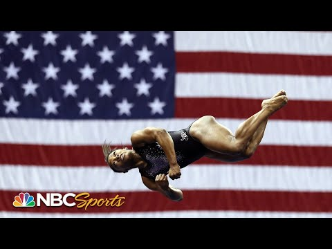 Simone Biles' historic double double dismount and triple double from every angle   NBC Sports