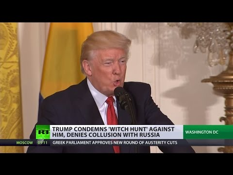 Thumbnail: 'Greatest witch hunt in US history': Trump denies collusion with Russia