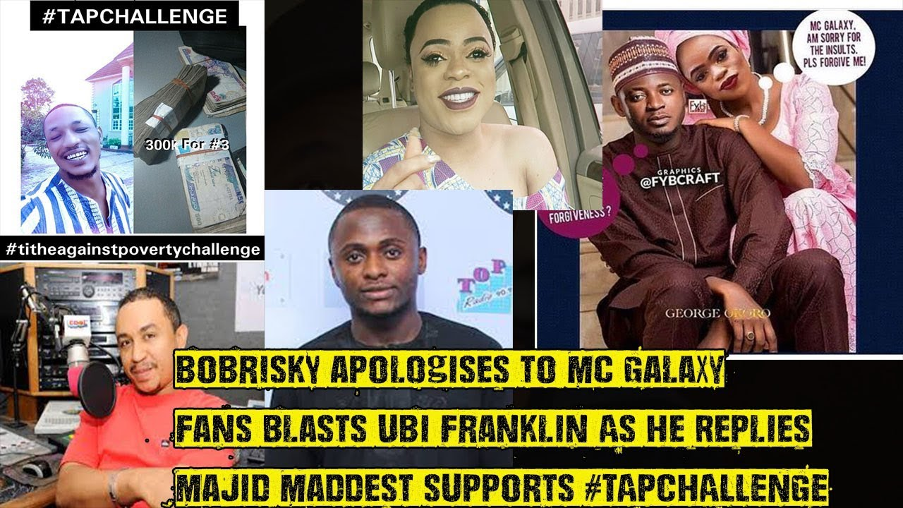 Download Bobrisky Finally Apologises To Mc Galaxy, Fans Blasts Ubi Franklin As He Fires Back