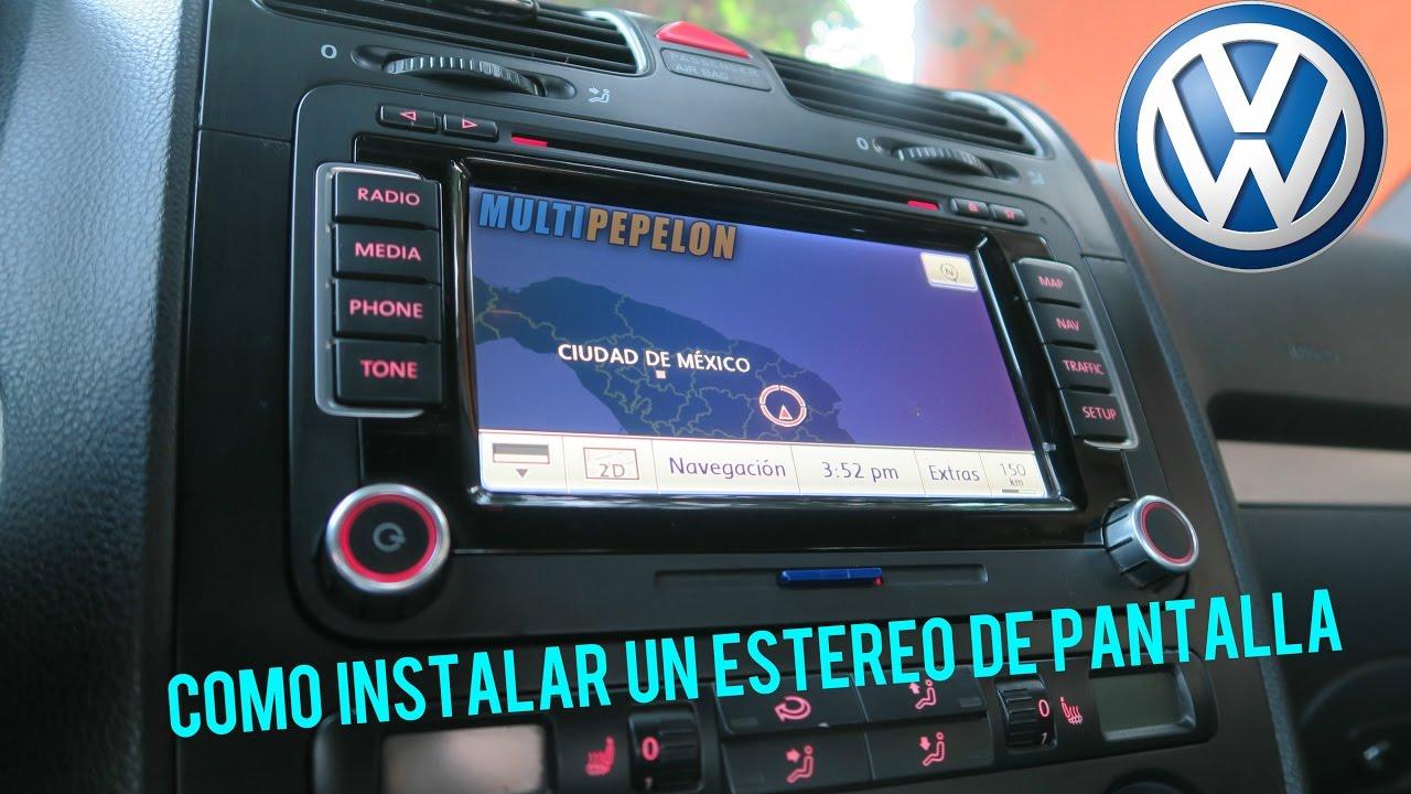 2017 Vw Jetta >> COMO INSTALAR ESTÉREO DE PANTALLA EN BORA O GTI MK5 / CAR AUDIO VW - YouTube