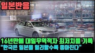 """(16년만에 대일무역적자 최저치 기록 """"한국은 일본을 …"""