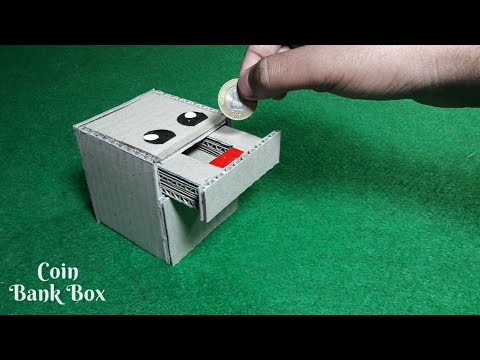 DIY- Coin Bank Box | How To Make Coin Bank box From Cardboard | Cardboard DIY | Piggy Bank For Kids