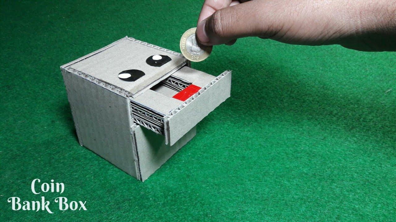 DIY- Coin Bank Box | How To Make Coin Bank box From Cardboard | Cardboard DIY | Piggy Bank For Kids