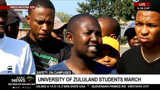 Safety on campuses  | University of Zululand students march