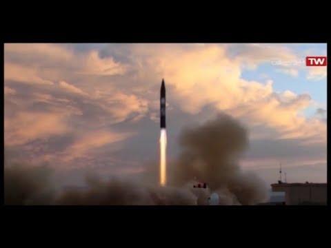 Iran Khorramshahr ballistic missile 2000 Km range, 1800 Kg multiple warheads موشك بالستيك خرمشهر