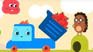 Развивающий мультфильм - Грузовичок Пик - Червячок + Сердитый ёжик  - про машинки