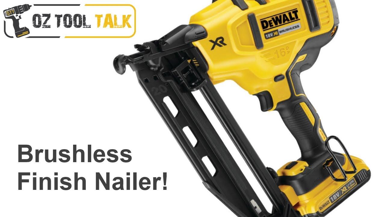 Dewalt 18V BL Finish Nailer DCN660 - 16GA Angled Nail Gun - YouTube