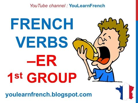 French Lesson 42 - Present tense FIRST GROUP -ER verbs - Ind