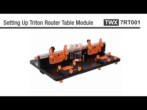 Triton Router Table Module -  Instructions