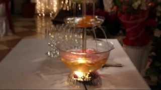Фонтан для напитков на свадьбе